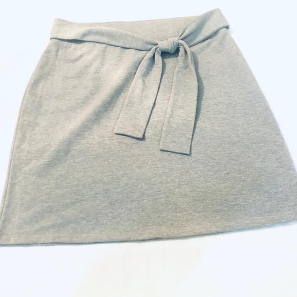 LOFT Dresses & Skirts - Ann Taylor LOFT Tie Waist Pencil Skirt Gray Size M